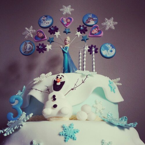 Disney Frozen Birthday Cake Teacups Pearls